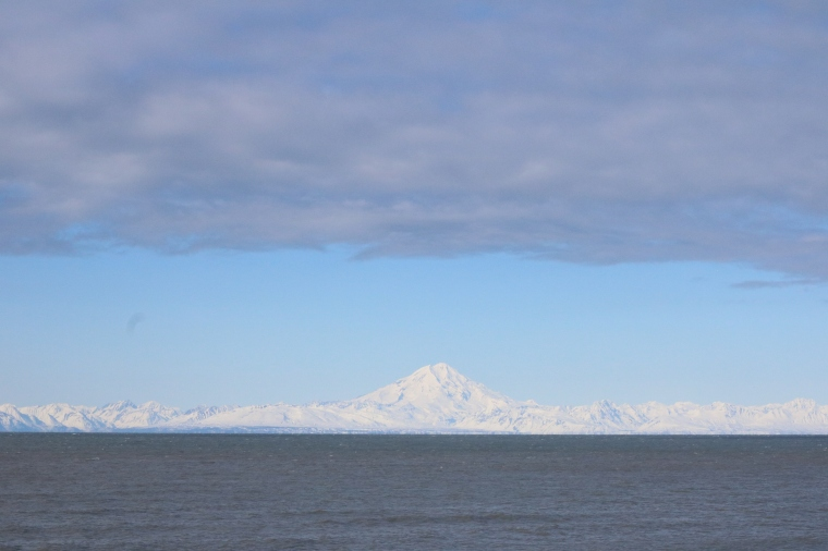 View of Mt. Redoubt from Ninilchik Beach. Photo by Kelly Ireland.