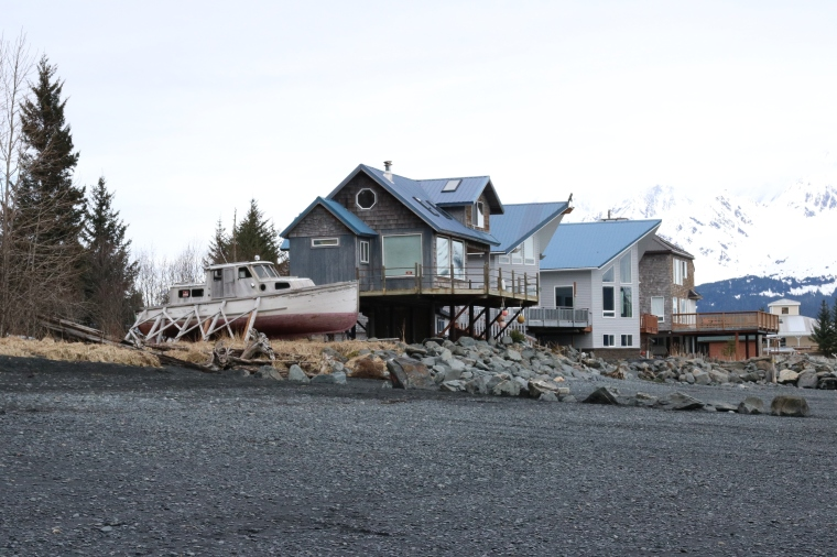 Homes at Miller's Landing in Seward, Alaska. Photo by Kelly Ireland.
