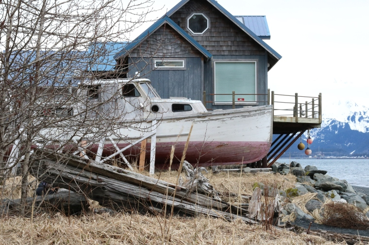 Beached boat in Seward, Alaska. Photo by Kelly Ireland.