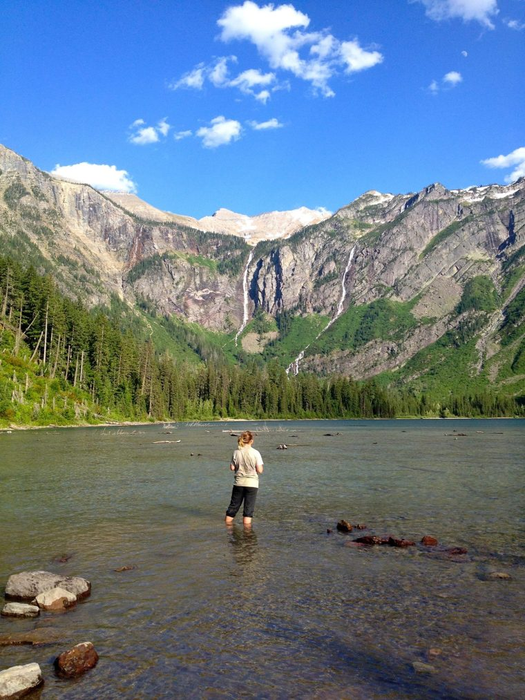 Monika Fleming at Avalanche Lake in Glacier National Park. Photo courtesy of Monika Fleming.