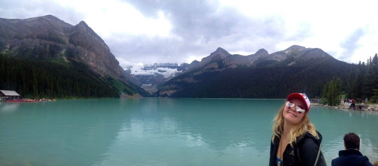 Monika at Lake Louise in Banff National Park in Alberta, Canada. Photo courtesy of Monika Fleming.