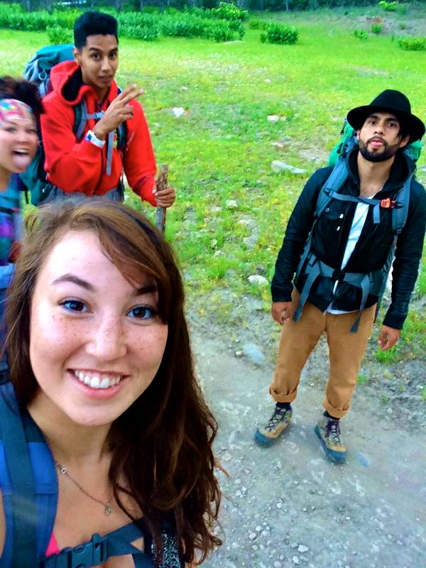 Kendyl, Julia, BLANK and BLANK on Donner's Pass to the Peter Grubb Hut on the Pacific Crest Trail. Photo courtesy of Kendyl Murakami.