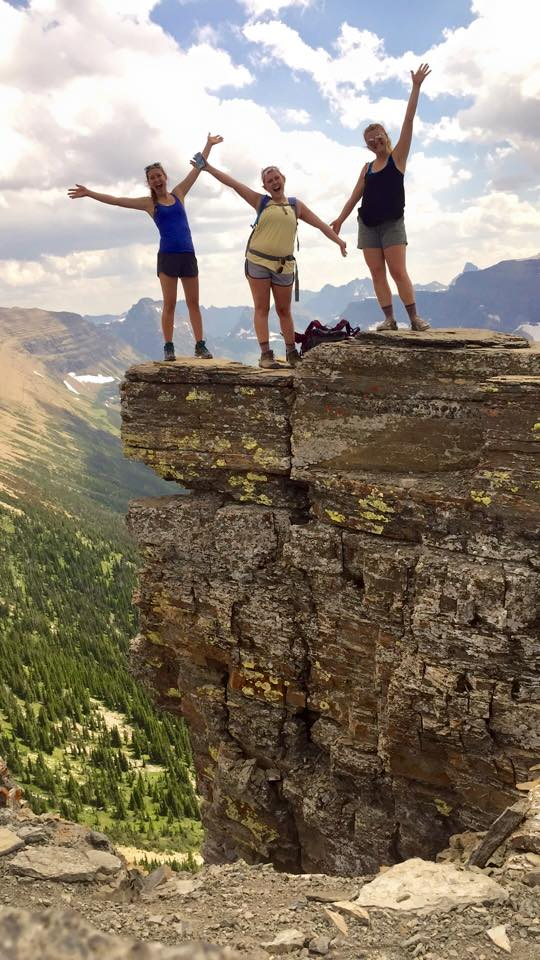 Hope Berntsen, Shannon Giles and Monika on the Pitamakan Pass to Dawson Pass trail in Glacier National Park. The trail is a 20 mile loop. Photo courtesy of Monika Fleming.