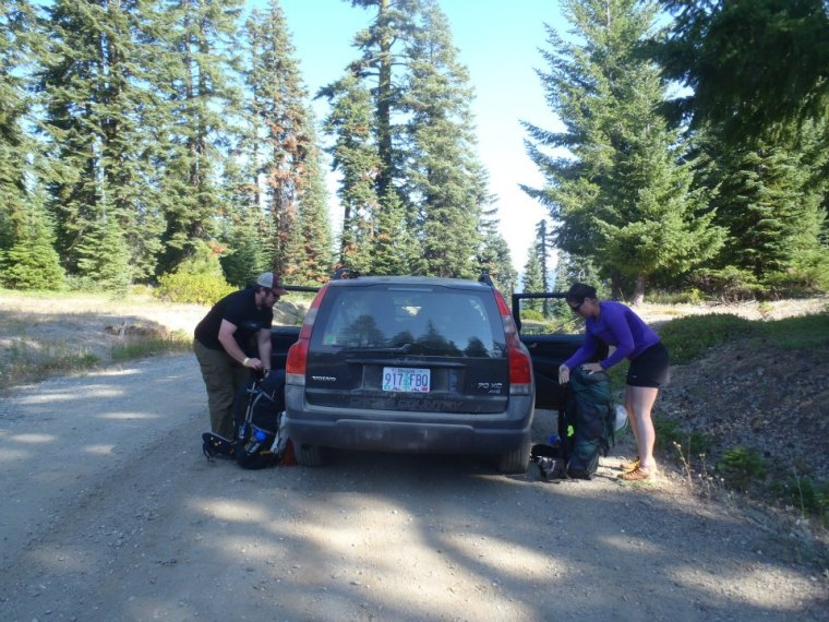Matt and Molly starting their journey on the Pacific Crest Trail.