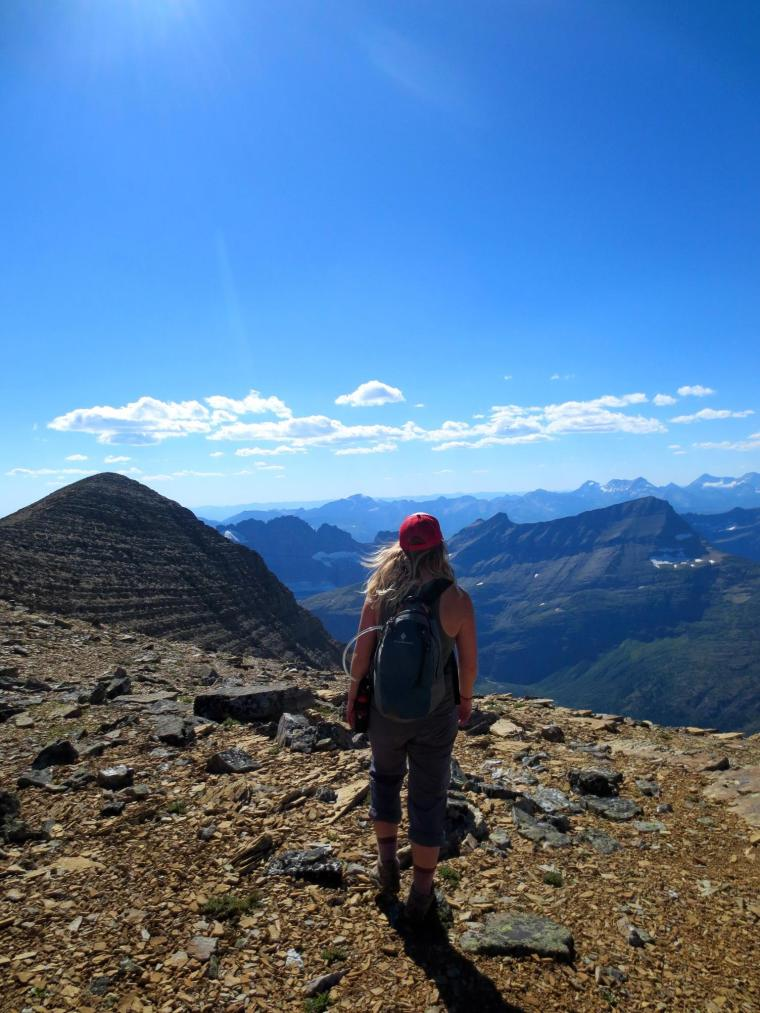 Monika on Ridgewalk Trail on Mount Allen in Glacier National Park. Photo courtesy of Monika Fleming.
