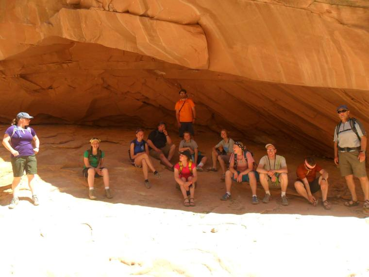 Monika's Spring Summit class in Little Wildhorse Canyon near Moab, Utah. Photo courtesy of Monika Fleming.