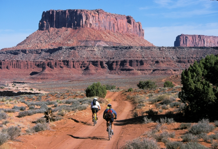 White Rim bike trail in Canyonlands National Park. Monika biked 100 miles on the trail with her Spring Summit course. Photo courtesy of Monika Fleming.